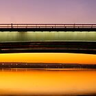 Narrows Bridge Perth Sunrise. by Elana Halvorson