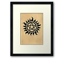 Supernatural - Demon Possession Protection [BLACK] Framed Print