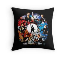 The Incredible World Of 007 Throw Pillow