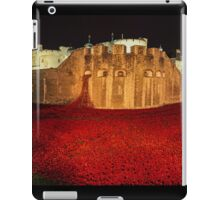 Poppies at theTower of London -  Night Panorama iPad Case/Skin