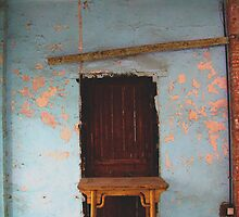 Brown Door & Table by LOREDANA CRUPI