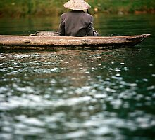 Ca Mau boatman by Anthony Begovic
