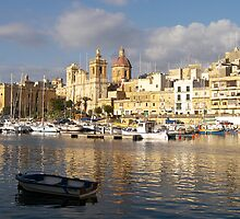 St. Lawrence Church Birgu Malta by David Gatt