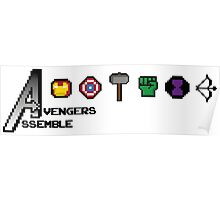 Avengers Assemble 8-bit Poster