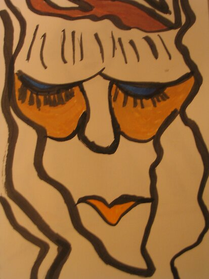 bored woman by enigmatic