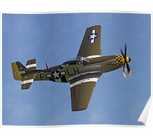 "P-51D Mustang 45-15118 G-MSTG ""Janie"" Poster"