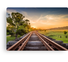 Disused railway track Canvas Print