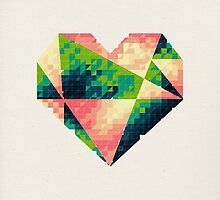 A heart is made of bits and pieces II by VessDSign