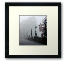 Foggy Melbourne  Framed Print
