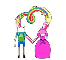 Adventure Time - Finn and Bubblegum in Love by navigata