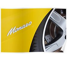 Yellow Holden Monaro Poster