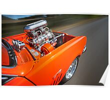 Orange Holden HG Monaro GTS rig shot Poster