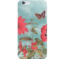 Watermelon Flowers and Turquoise Sky iPhone Case/Skin