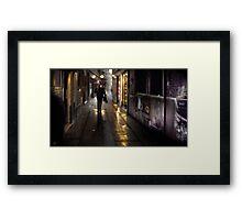 Venice Rain Framed Print