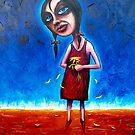 """Spring"" (Red Dust Girl Series) Oil on Canvas. by Leith"