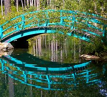 Monet Bridge and Reflection by John Butler