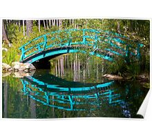 Monet Bridge and Reflection Poster
