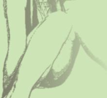 polly-anna (b/w vintage green) Sticker