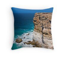 Nullarbor Cliffs Throw Pillow