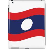 Laos Flag Wave iPad Case/Skin