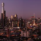 Melbourne Sunset by MD81