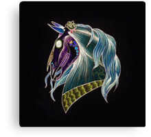 Day Of The Dead Skull Horse Head Canvas Print