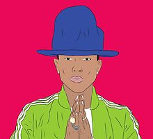 Pharrell Williams of N*E*R*D, The Neptunes, Happy! by ryanthecreator