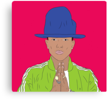 Pharrell Williams of N*E*R*D, The Neptunes, Happy! Canvas Print