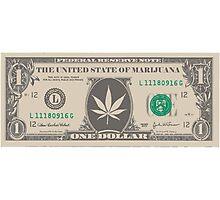 Marijuana bill Photographic Print