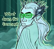 Thranduil does the Fox Dance by HattieHedgehog