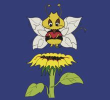Buzzer the Bee Red Flower Yellow by Czerra