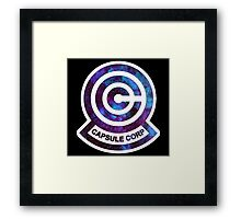Galaxy Capsule Corp Logo Framed Print