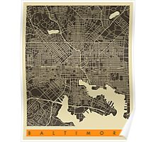 BALTIMORE MAP Poster
