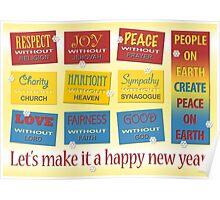 Atheist Greeting Card Poster