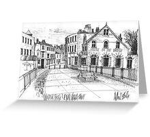 Windsor Eton pedestrian bridge - pen and ink sketch Greeting Card