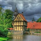 Storm over Schloss Burgsteinfurt by Christiaan