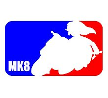 Mario Kart 8 Link on the Mastercycle [sport logo] Photographic Print