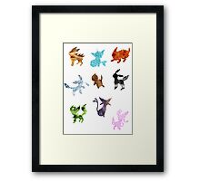 Eeveelutions // Together Framed Print