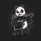 Heavy Metal Panda by dooomcat