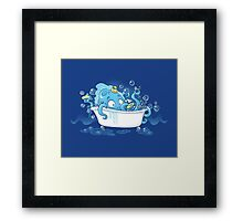 Kracken Bath Framed Print