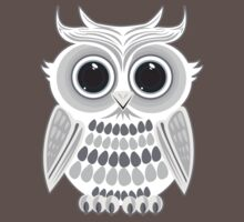 White Owl - Grey Kids Clothes
