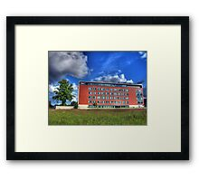 Tree and Building Framed Print