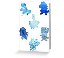Water Type Starters Greeting Card