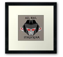 All Hail - Starscream Framed Print