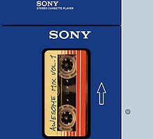 Awesome Mix tape Vol 1 Sony Walkman Case  by SnarkySharkS