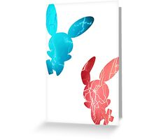 Plusle and Minun used Spark Greeting Card