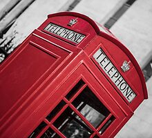 London Red Telephone Booth by Rodderrick Sota