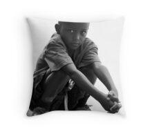 street boy northern rwanda Throw Pillow