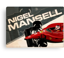 Nigel Mansell - F1 1990 Canvas Print