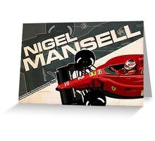Nigel Mansell - F1 1990 Greeting Card